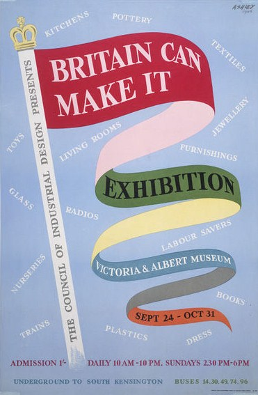 Britain can make it exibition poster 1950's