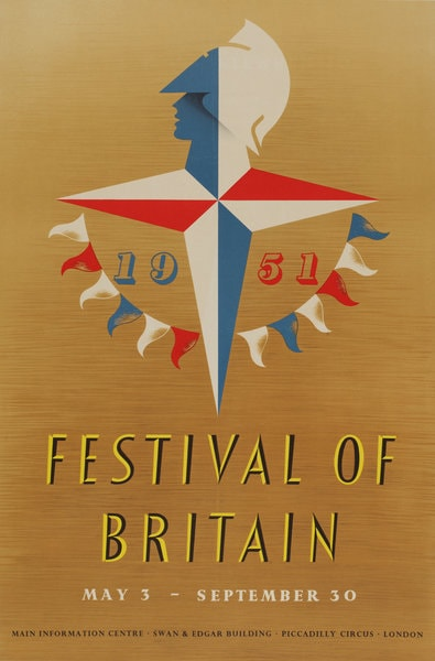 Festival of Britain poster 1950's