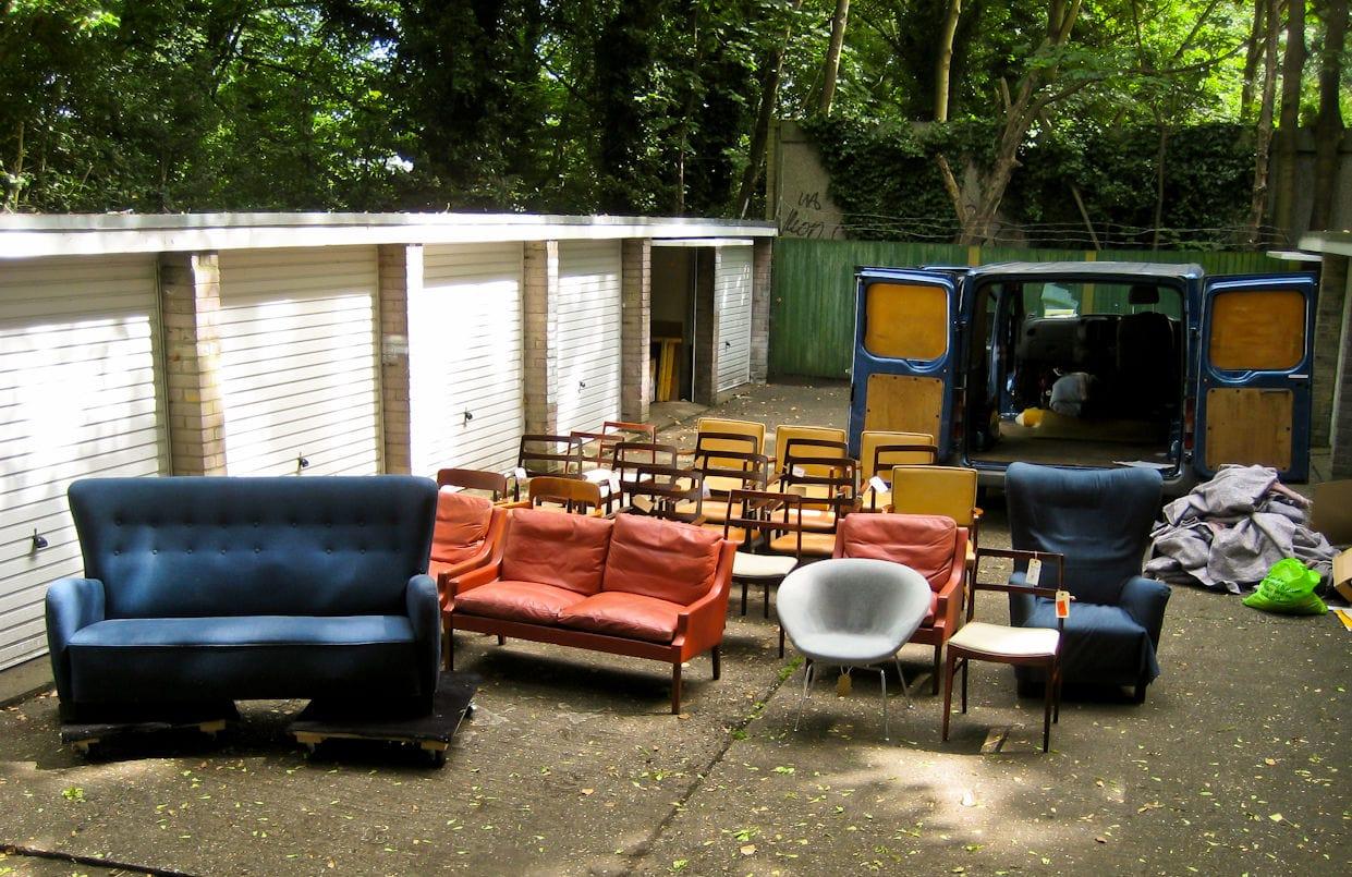 Vintage furniture London Denmark buying trip