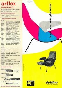 Italian design Arflex Delphino chair advert 1950's
