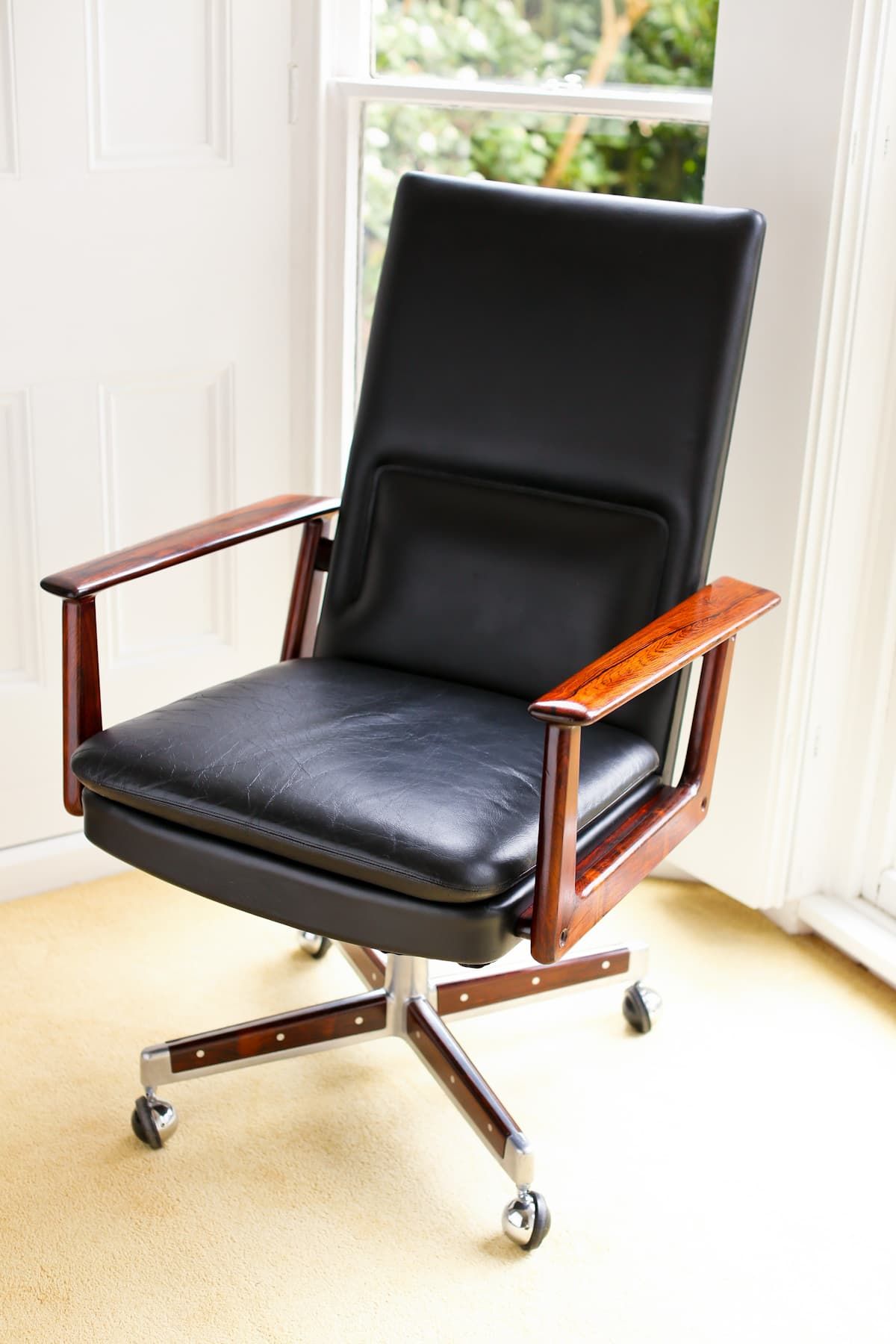Arne Vodder rosewood mid century armchair Sibast