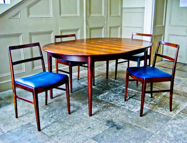 Arne Vodder Sibast dining chairs & table Danish 1950's