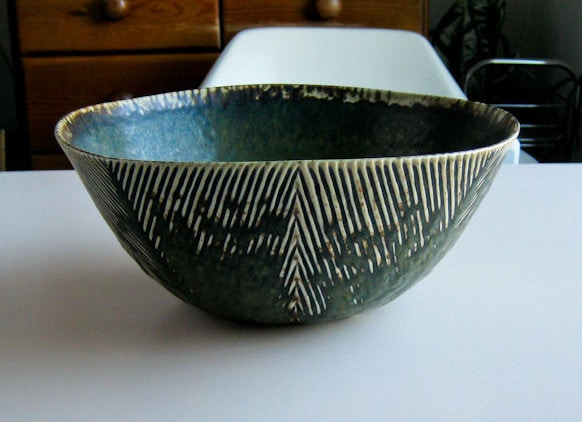 Axel Salto for Royal Copenhagen bowl herringbone Danish design