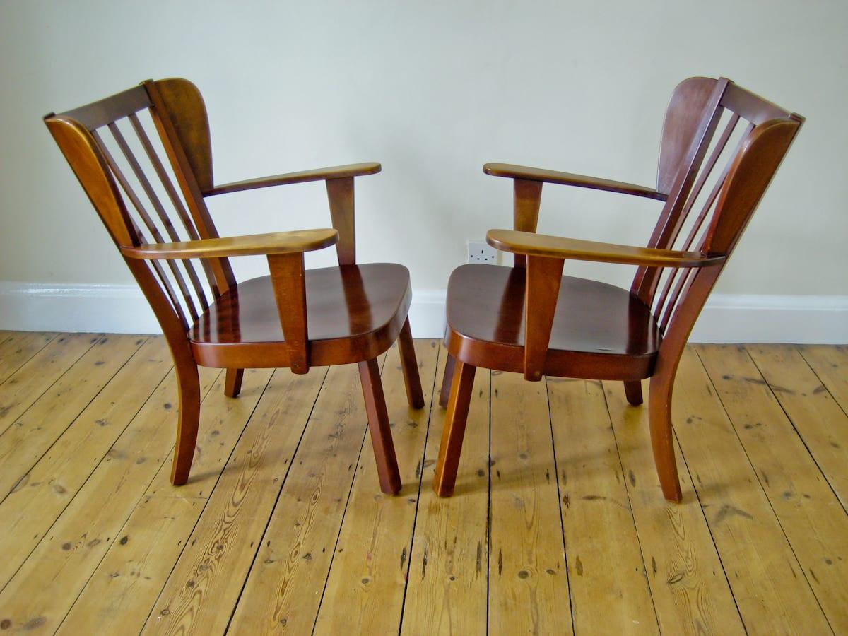 Fritz Hansen armchair beech Christian Hansen 1940's
