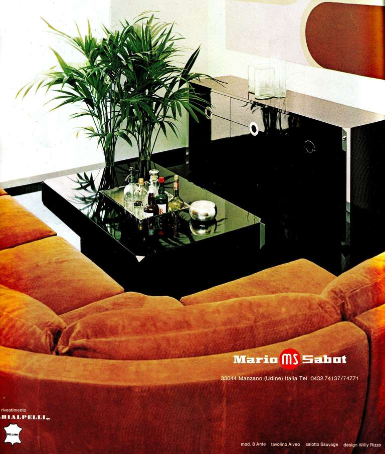 Willy Rizzo Casa Vogue advert italian design 1970's