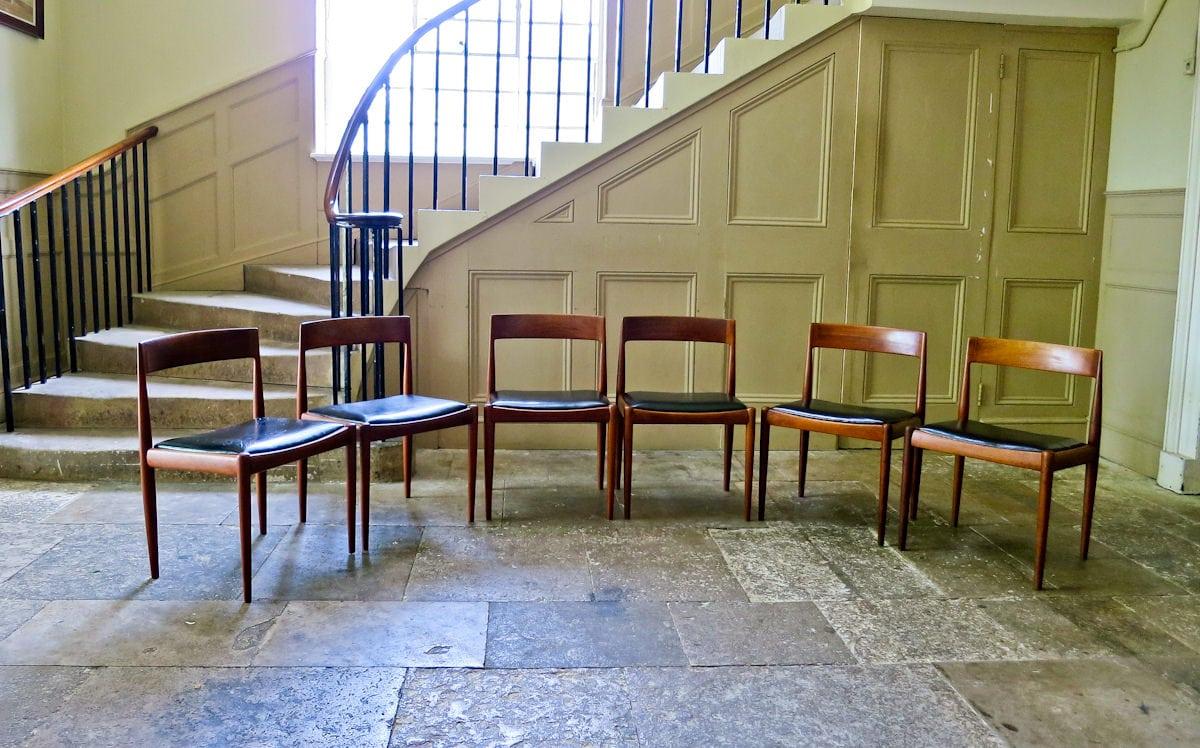 Kai Kristiansen dining chairs Fritz Hansen teak Danish
