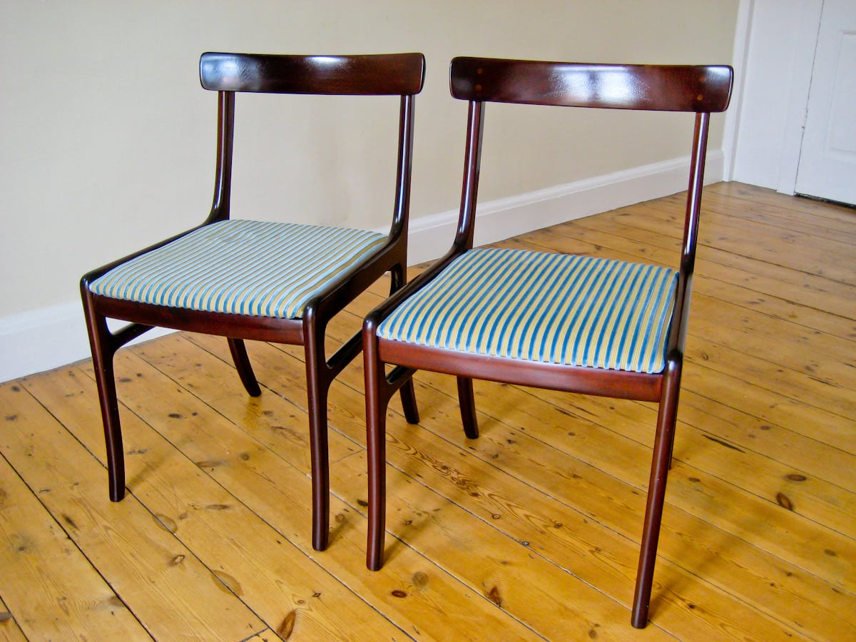 Ole wanscher P. jeppesen dining chairs mahogany