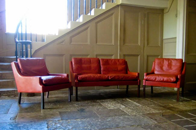 Georg Thams Danish sofa & chairs rosewood & leather 1960's