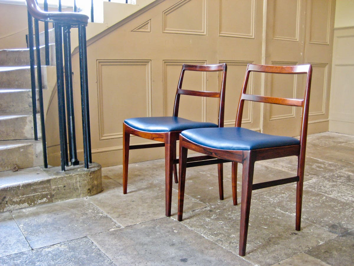 Mid century dining chairs Arne Vodder Sibast rosewood