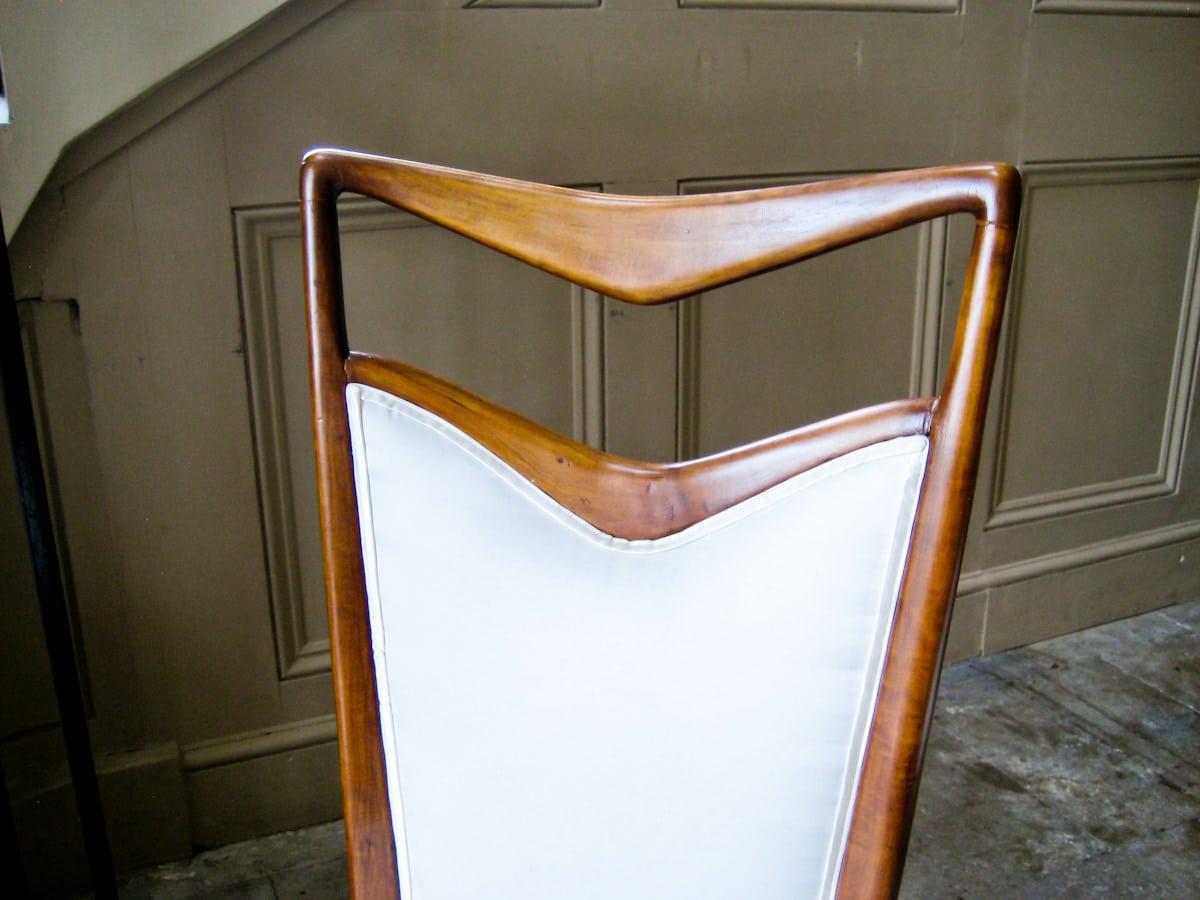 Italian vintage dining chairs Carlo di Carli 1950's
