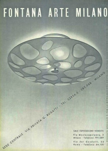Fontana Arte mid century modern furniture light advert 1950