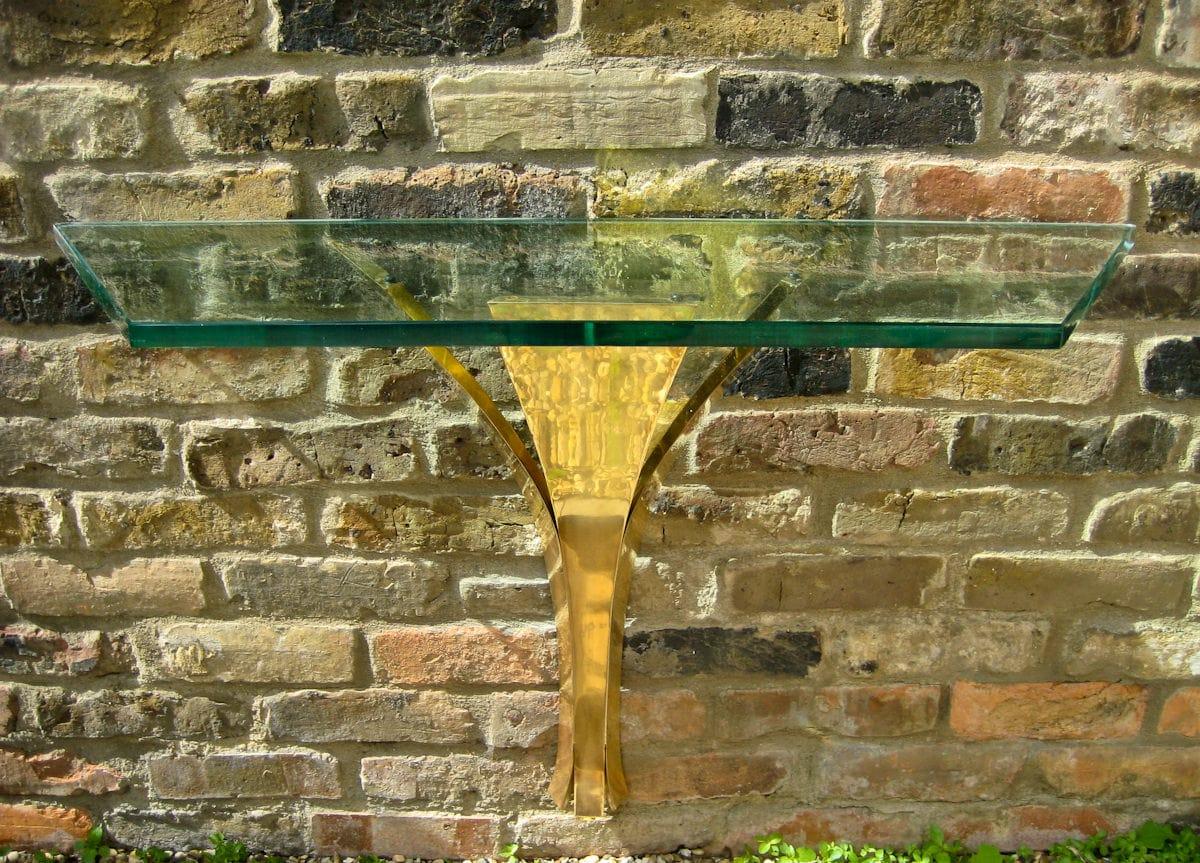 Fontana Arte Italian design console table glass 1950's