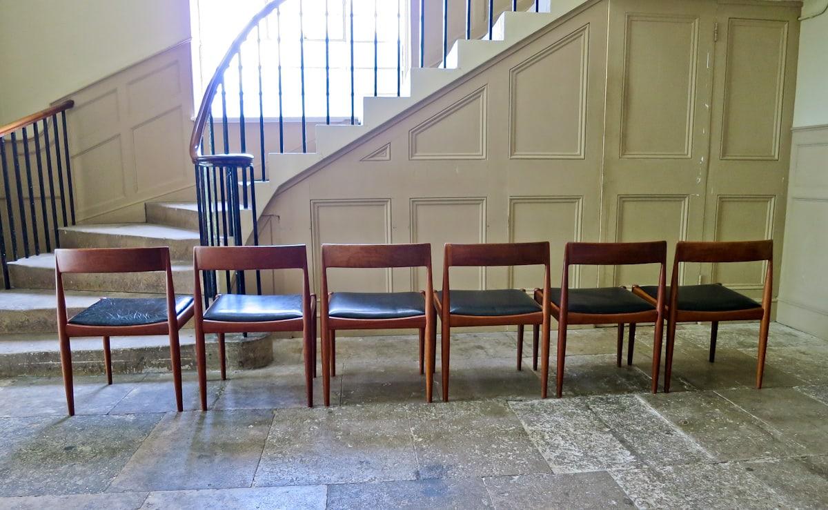 Fritz Hansen Kai Kristiansen teak dining chairs
