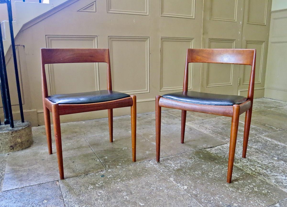 Teak dining chairs Kai Kristiansen Fritz Hansen Danish