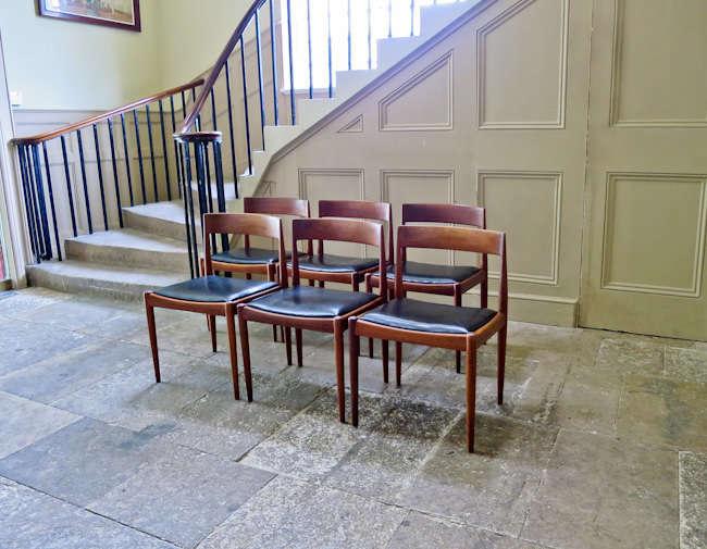 Kai Kristiandsen dining chairs Fritz Hansen 1950's