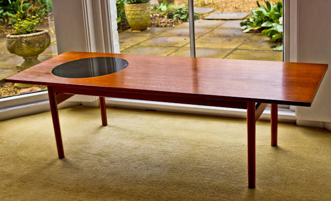 Greta Jalk coffee table teak formica Danish 1950's