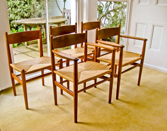 Hans Wegner Carl Hansen CH 36/ CH 37 dining chairs vintage furniture