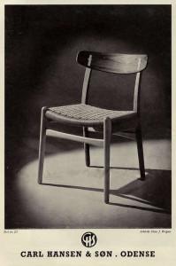 Hans Wegner Carl Hansen chair advert Danish modern 1950's