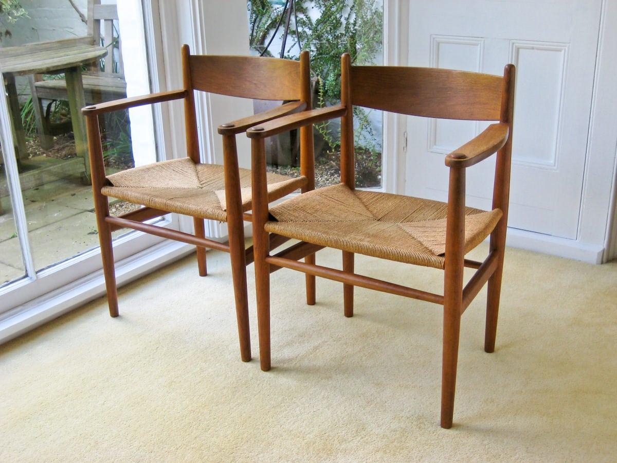 Hans Wegner Carl Hansen CH 36 dining chairs