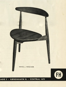 Mid century modern furniture Hans Wegner Fritz hansen Chair advert