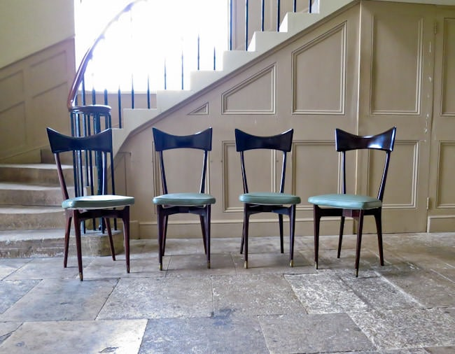 Ico Parisi dining chairs Italian 1950's