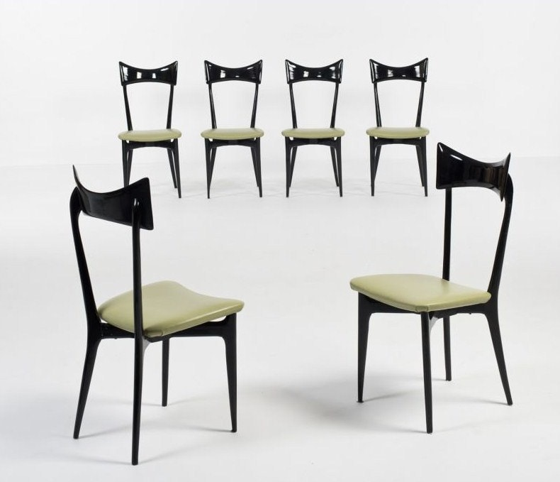 Mid century furniture Ico Parisi dining chairs 1950's