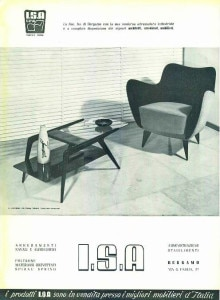 ISA italian mid century modern furniture advert 1950