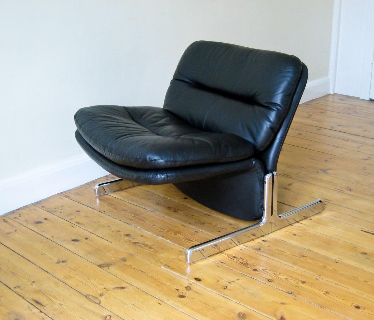 1970's leather chairs vintage furniture London Brunati Italian