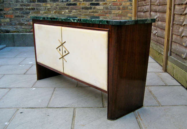 Italian design sideboard / credenza marble & rosewood 1950's