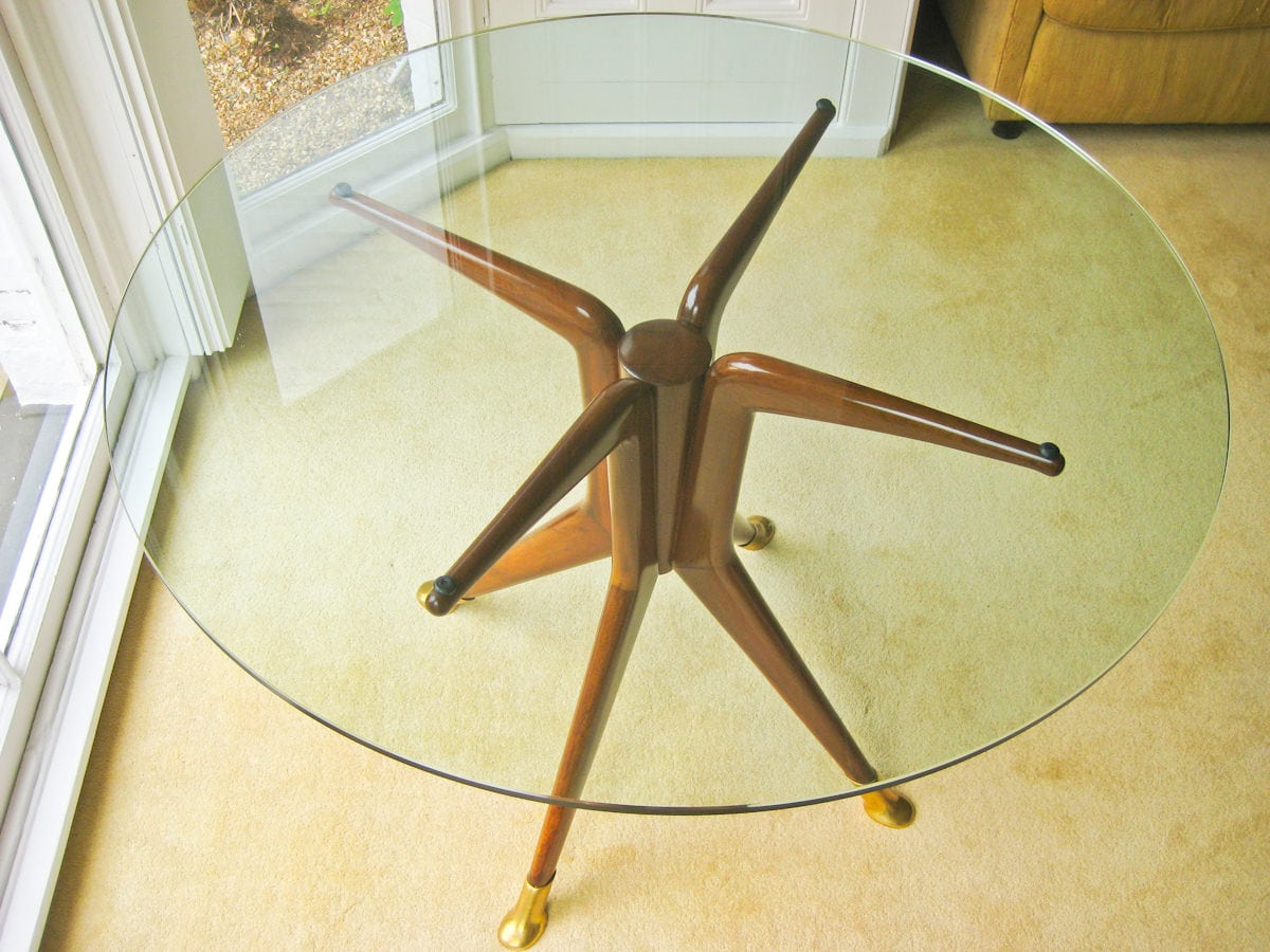 Italian design furniture dining table glass 1950's