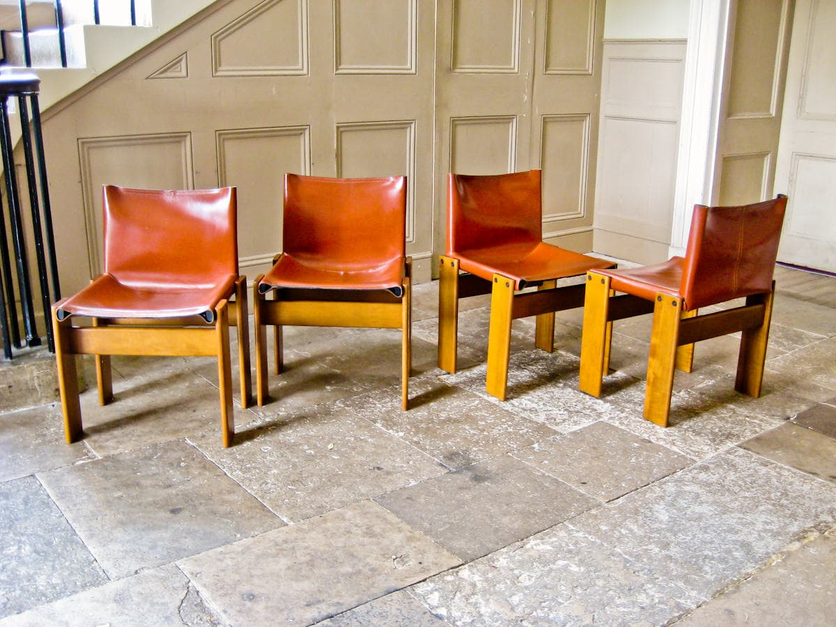 Tobia Scarpa italian design Monk chairs 1970's
