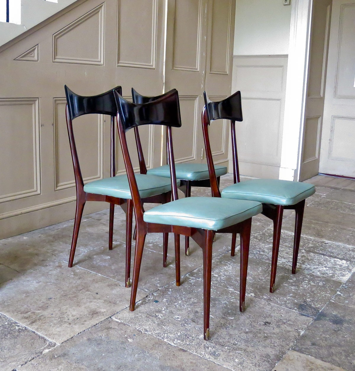 Ico Parisi Italian dining chairs 1950's