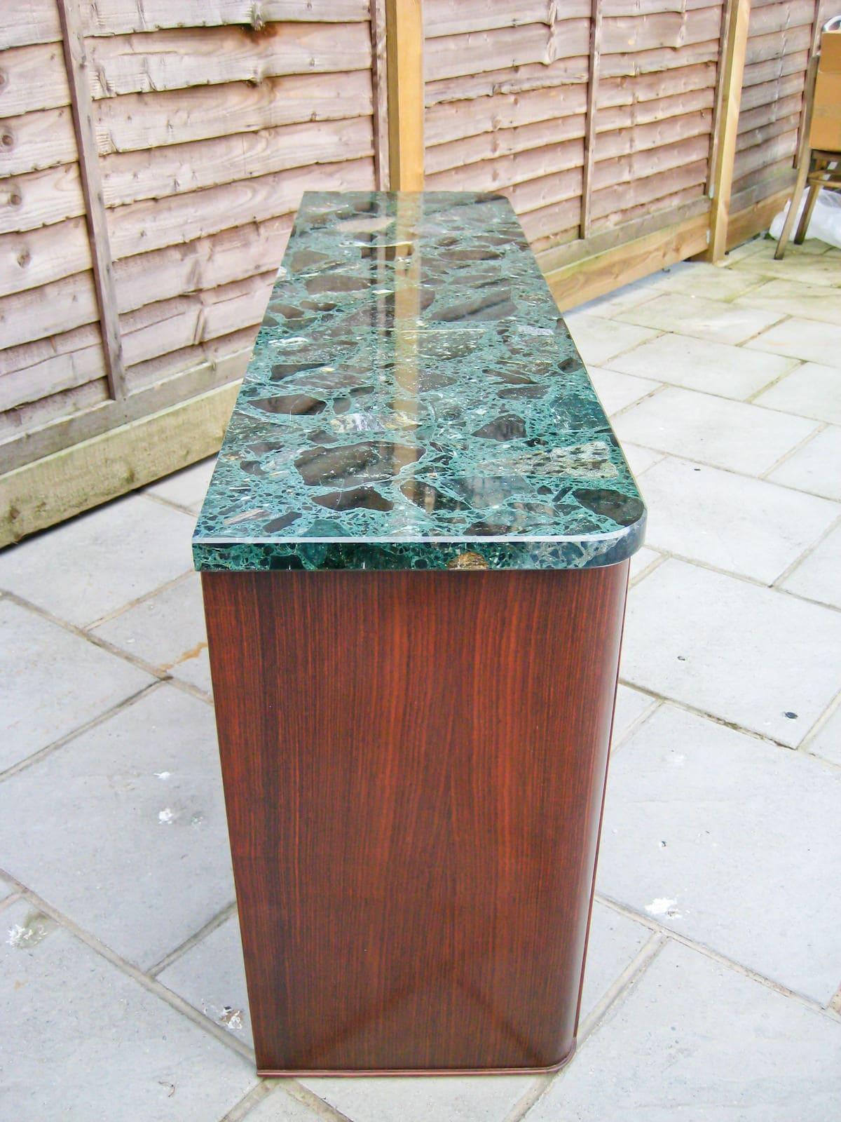 Marble vintage sideboard Italian design 1950's