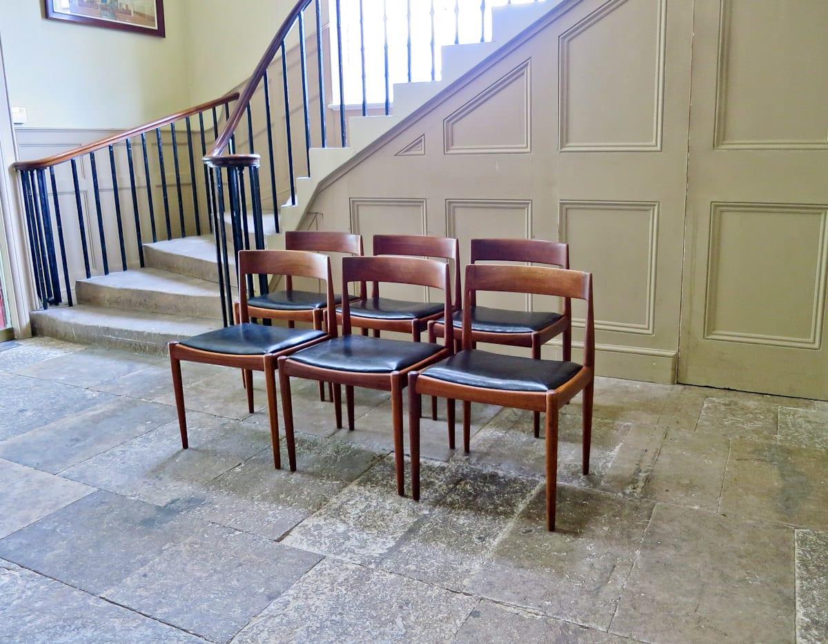 Kai Kristiansen teak dining chairs Fritz Hansen