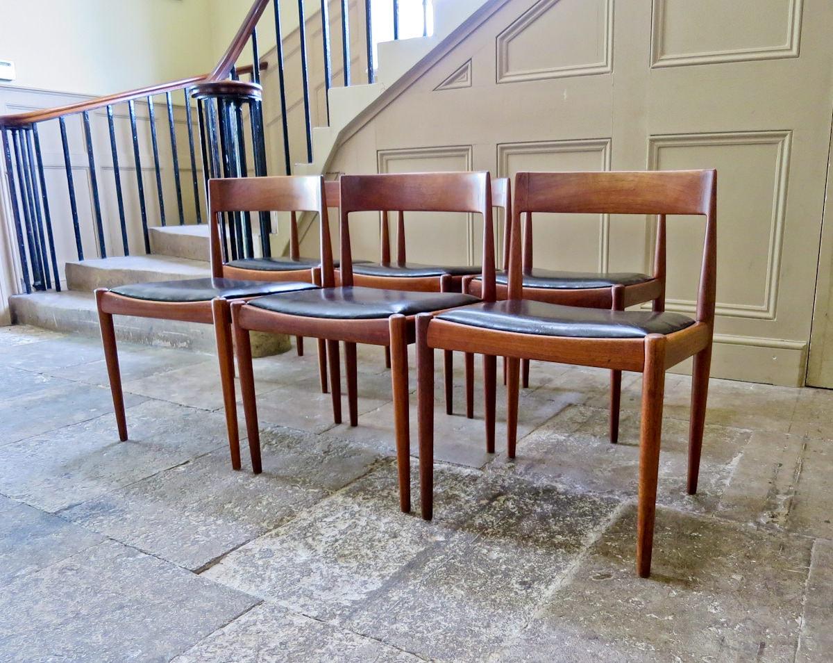 Teak dining chairs Fritz Hansen Kai Kristiansen Danish