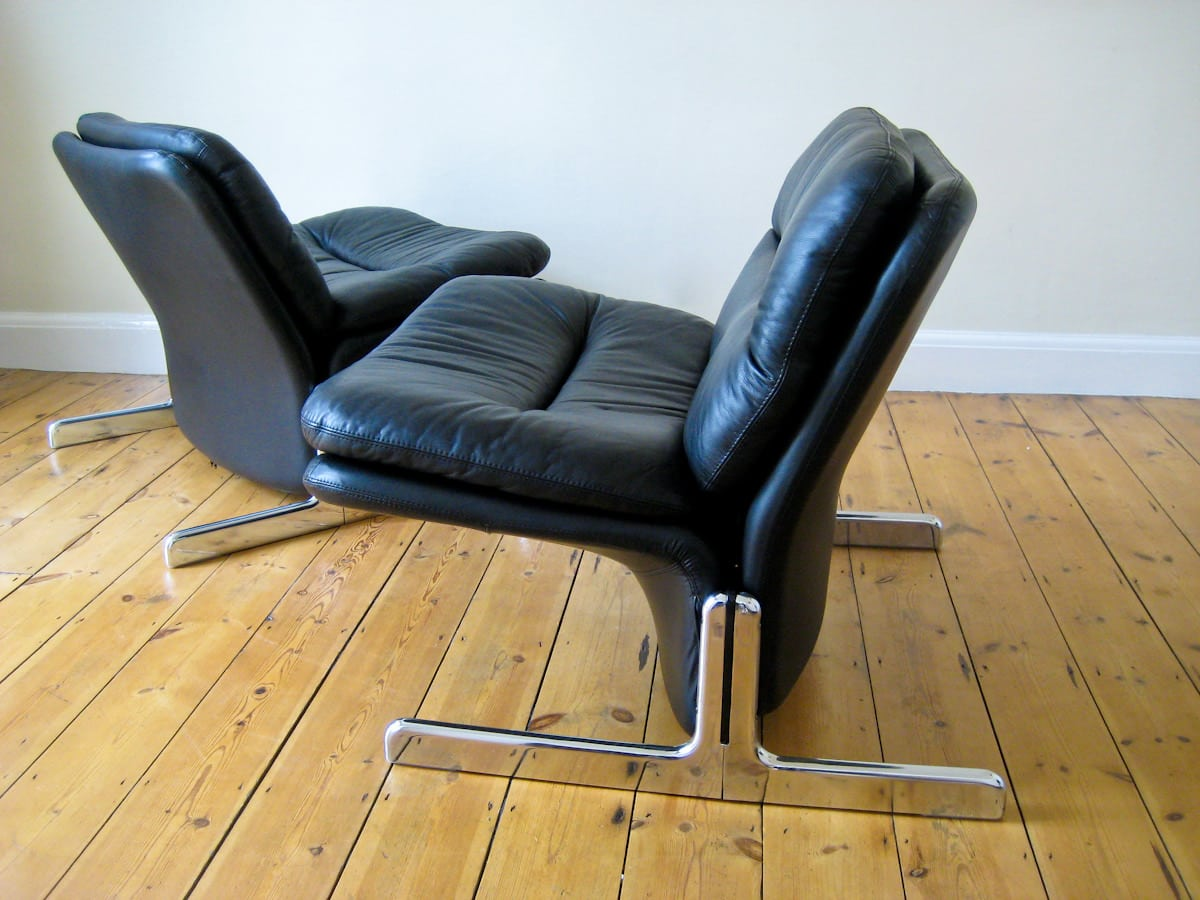 leather chairs vintage furniture London Brunati 1970's