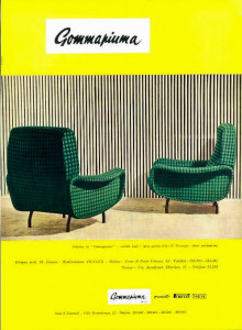 Marco Zanuso Arflex Italian design advert 1950's