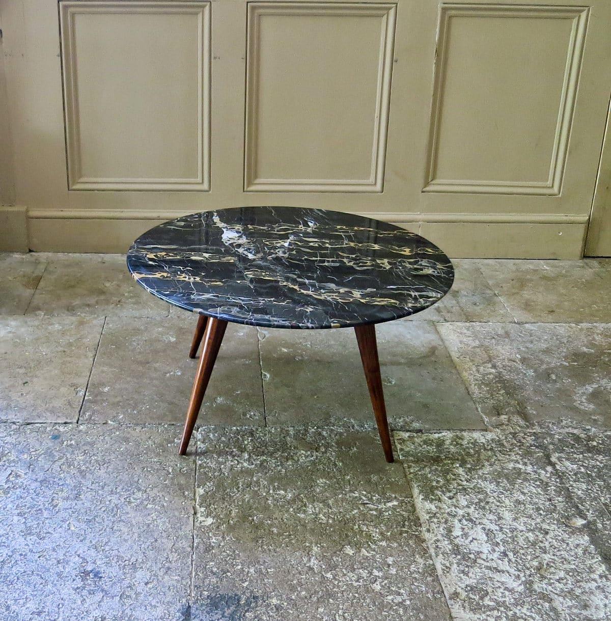 Mid century coffee table in marble italian 1950's