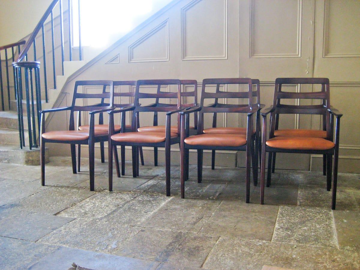 Mahogany dining chairs H.W.Klein Bramin Danish
