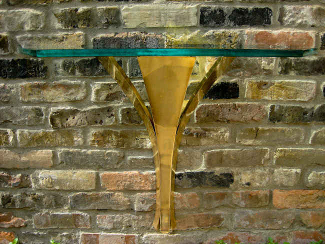 Fontana Arte glass console table 1950's