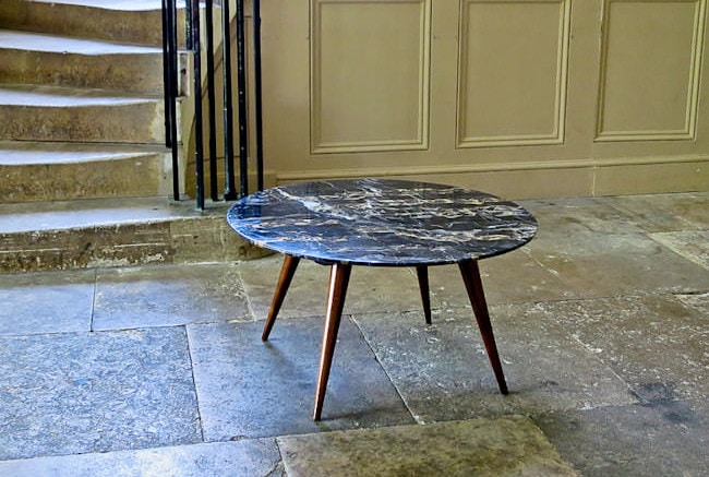 Marble coffee table Italian 1950's