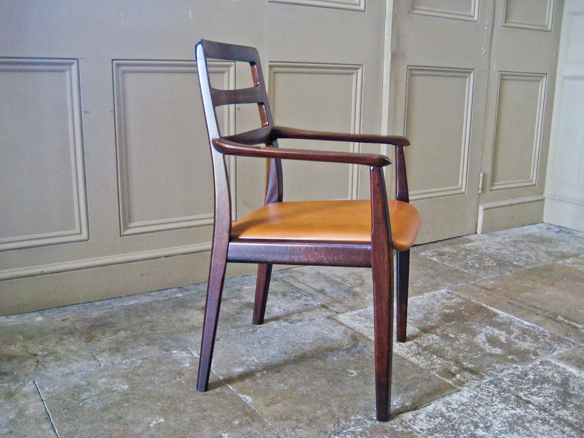 H.W.Klein Bramin dining chairs leather mahogany