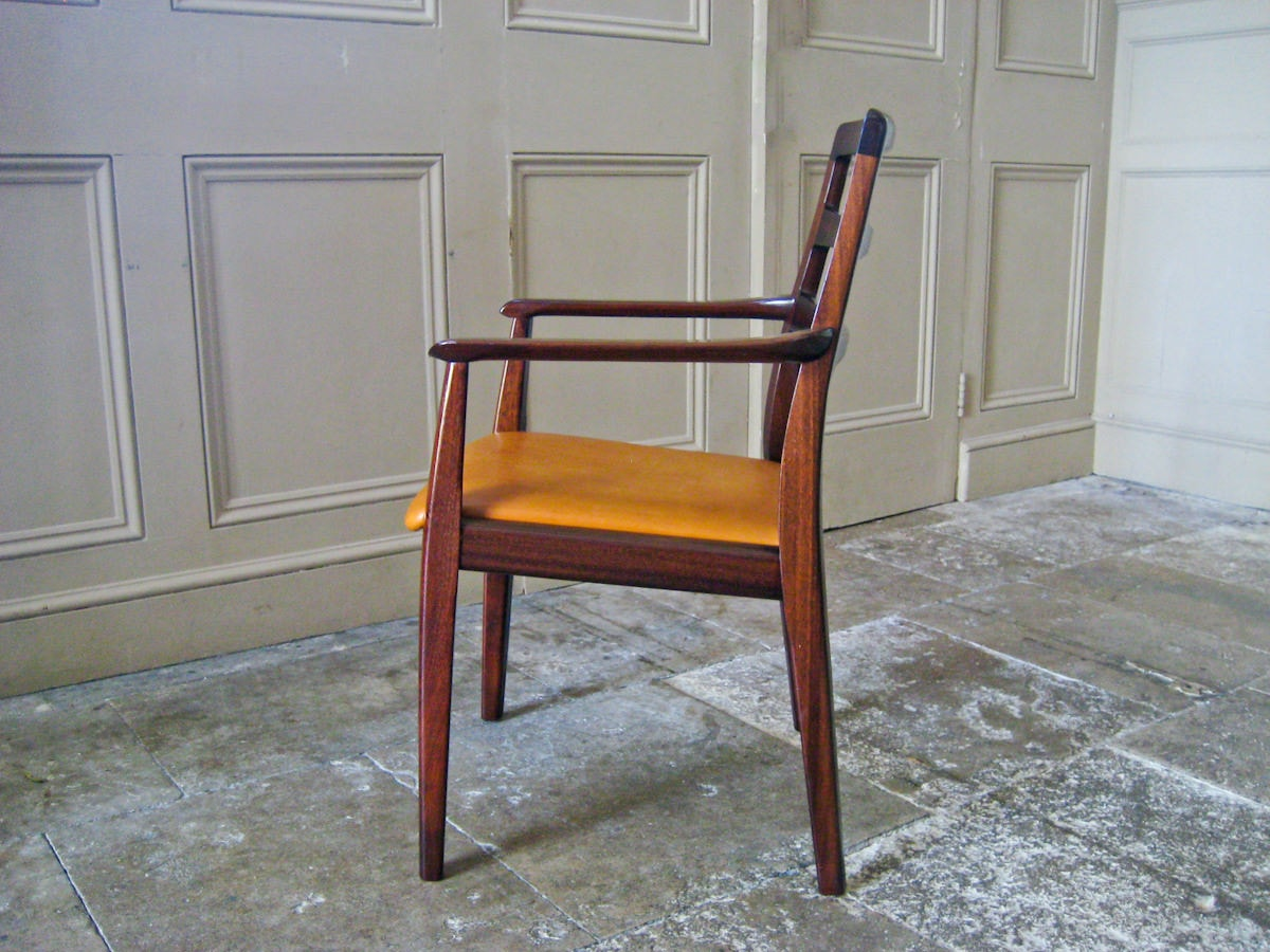 Bramin H.W.Klein danish dining chairs mahogany leather