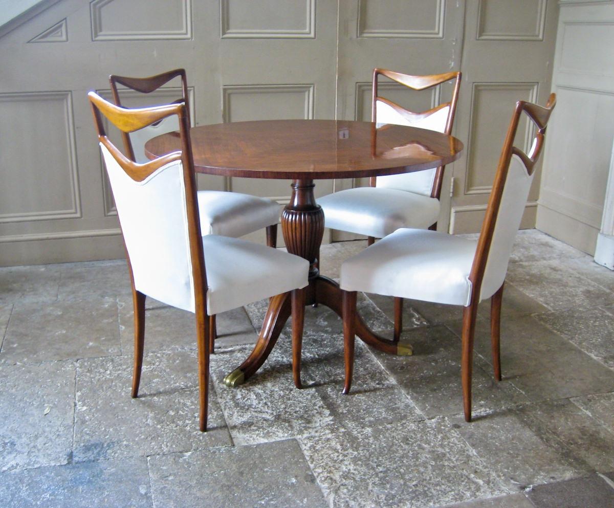 Vintage dining chairs by Carlo di Carli Italian 1950's