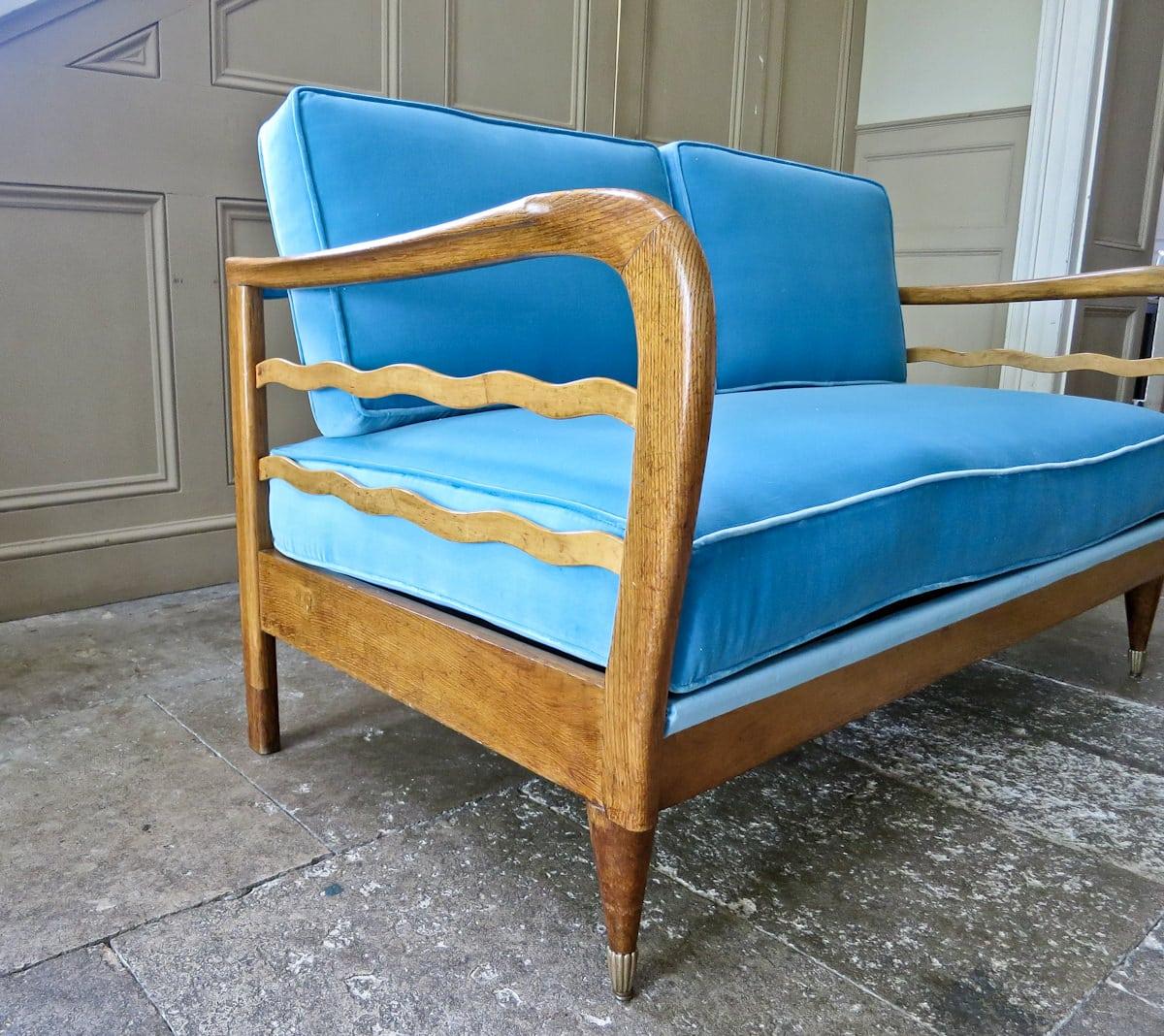 mid century modern sofa italian design velvet sofa