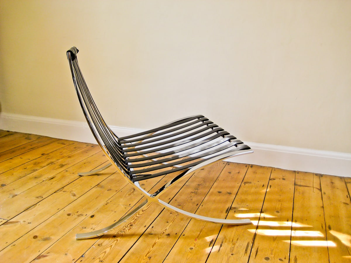 Knoll Barcelona chair in leather Mies van der Rohe