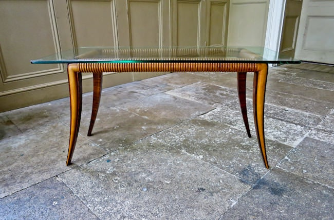 Paolo Buffa coffee table Italian mid century furniture 1950's