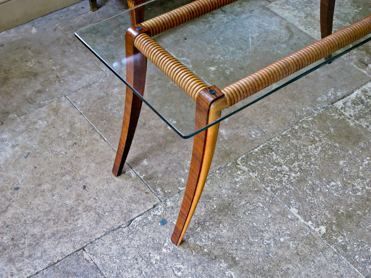 Paolo Buffa coffee table sofa table mid century Italian 1950's