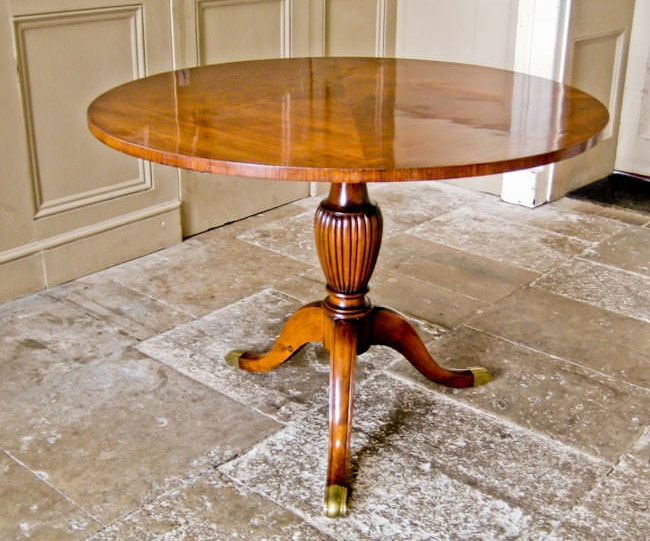 Dining table Paolo Buffa Italian mahogany 1950's