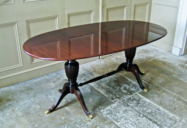 Dining table Mahogany Paolo Buffa 1950's